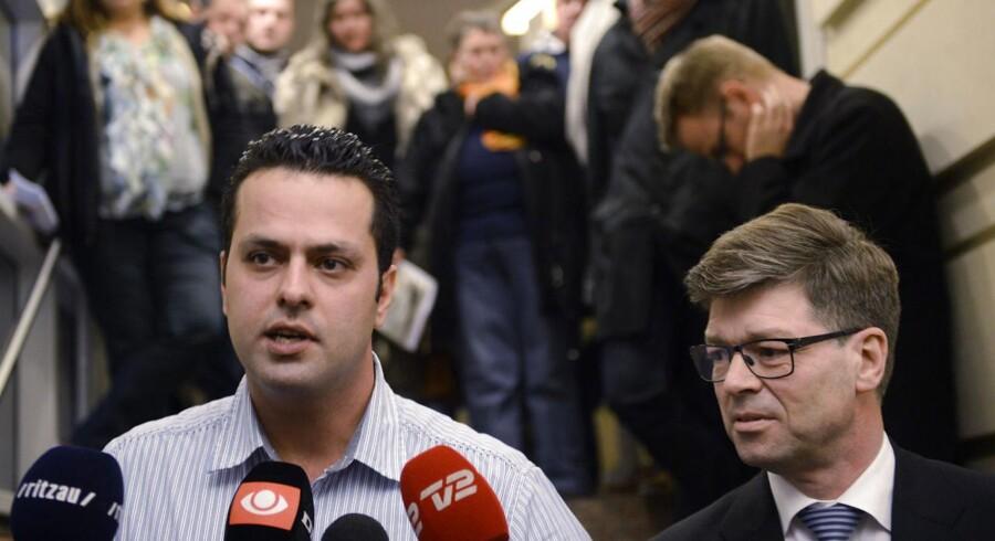 Vejlegårdens forpagter Amin Skov udenfor Arbejdsretten i København torsdag 29. november 2012 efter kendelsen til fordel for 3F