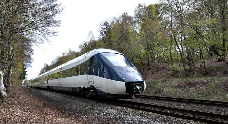 Her ses det kritiserede IC4-tog fra Ansaldo, der bliver ved med at være problematisk. Det er samme italienske producent, der har kontrakt på at bygge IC2.