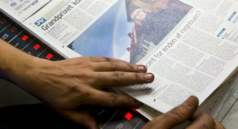 JyskeVestkysten trykkes på Berlingskes avistrykkeri i Vonsild ved Kolding.
