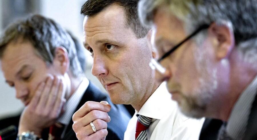 Forsvarsminister Nick Hækkerup i tirsdagens samråd.