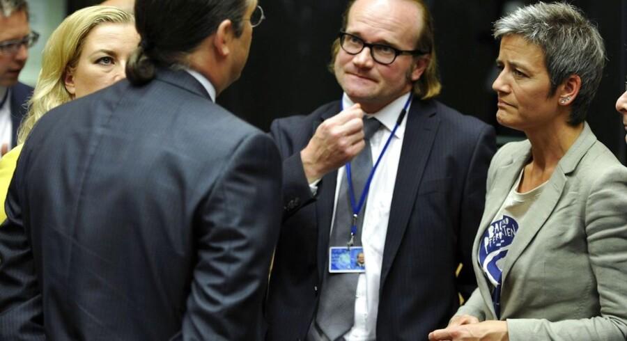 »Den danske hovedregel, om at det er banksektoren selv, der skal betale og ikke skatteyderne, bliver ifølge aftalen også den europæiske hovedregel,« siger den danske økonomiminister Margrethe Vestager om EU-aftalen om håndtering af krisebanker.