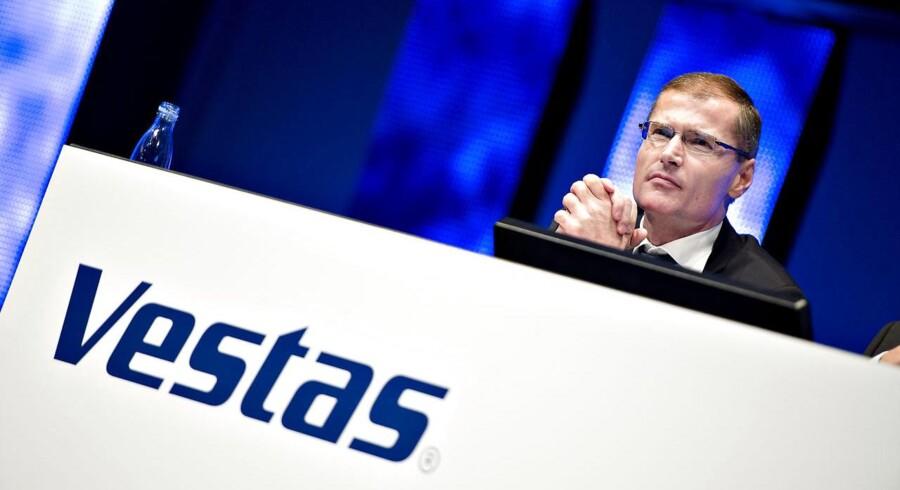 Tilliden til Vestas' ledelse er tilsyneladende steget. Færre sætter penge på, at det går den gale vej for den danske vindmøllekoncern.