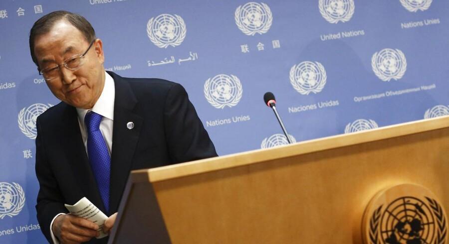 Ban Ki-moon bekræfter, at der er brugt kemiske våben i Syrien.