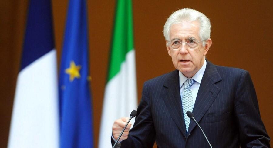 Premierminister Mario Monti advarer om, at et fejlslagent EU-topmøde kan blive euroens undergang.