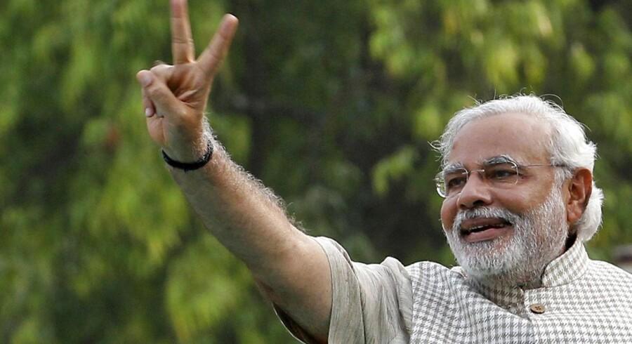 De nationalistiske hinduers kandidat, Narendra Modi, står som den store sejrherre efter det indiske valg.