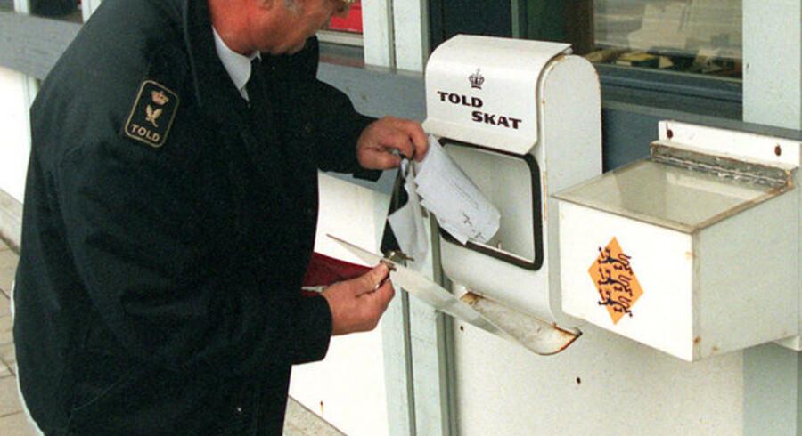 Der kommer ikke mange breve til Skat i toldpostkasserne ved den sønderjyske grænse.