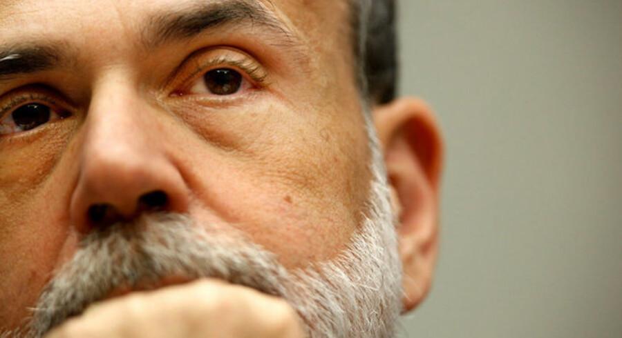 Ben Bernanke har tabt stort på amerikanske aktier - og så er han for øvrigt betydeligt dårlige aflønnet end den danske nationalbankdirektør.
