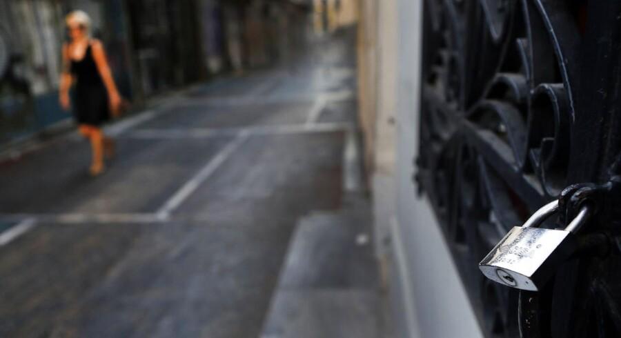 Krisen i Grækenland har medført butikslukninger og og økonomisk nedgang. Men nu er der håb forude, vurderer trojkaen.