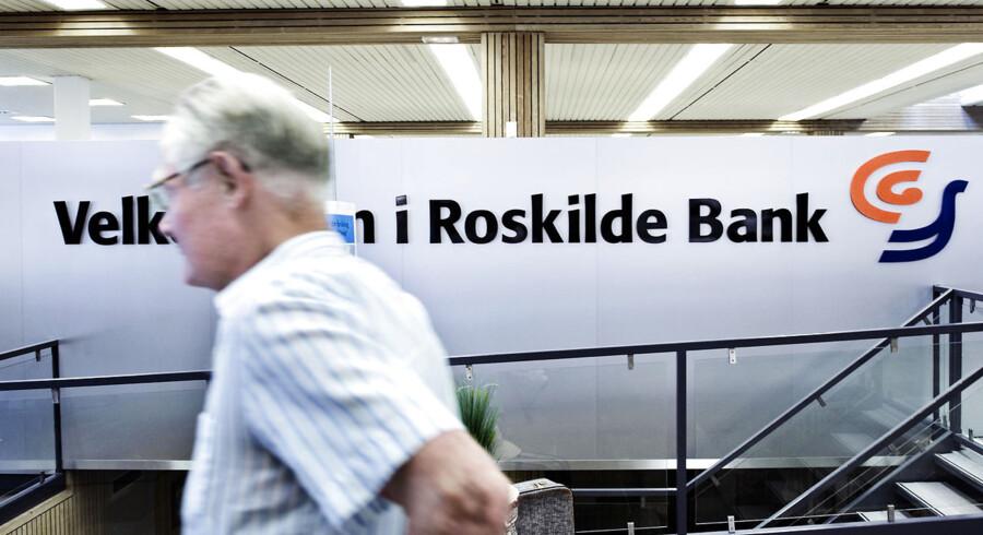 ARKIVFOTO. Aktionærerne i den krakkede Roskilde Bank står til en lang næse, selv om de vinder en retssag. (se Ritzau historie 152009) - -Roskilde Bank. (Foto: Jens Nørgaard Larsen/Scanpix 2012)
