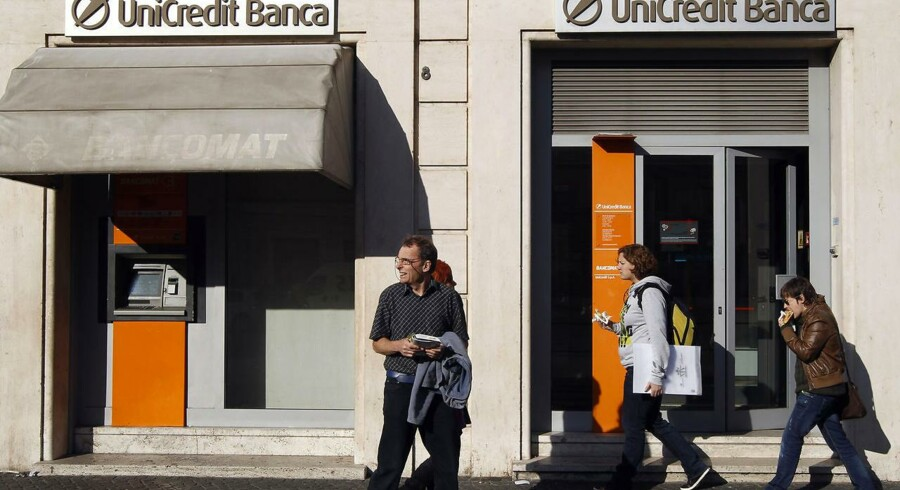 En filial i Rom af den kriseramte storbank Unicredit.