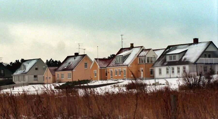 Huse ved Bønnerup Strand på Norddjursland.