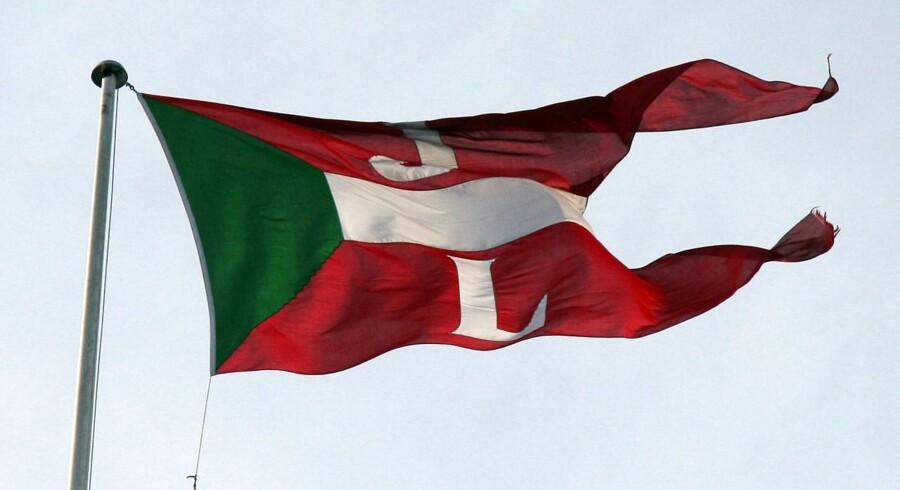 Flag for Rederiet J. Lauritzen A/S.