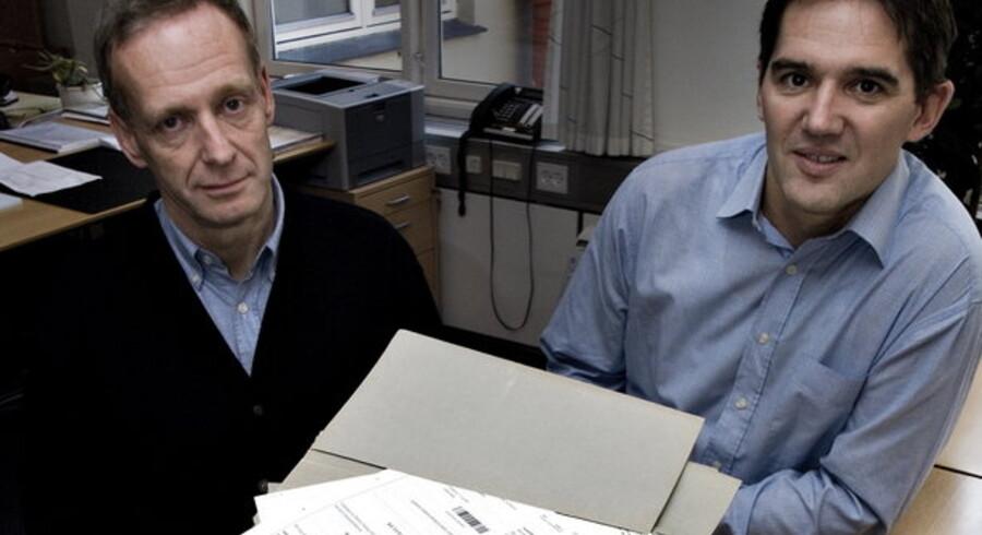 Udviklingen af digital tinglysning blev forestået af projektleder Henrik Hvid fra Devoteam (til højre) og dommer Søren Sørup Hansen, der er chef for den samlede tinglysning i Hobro.