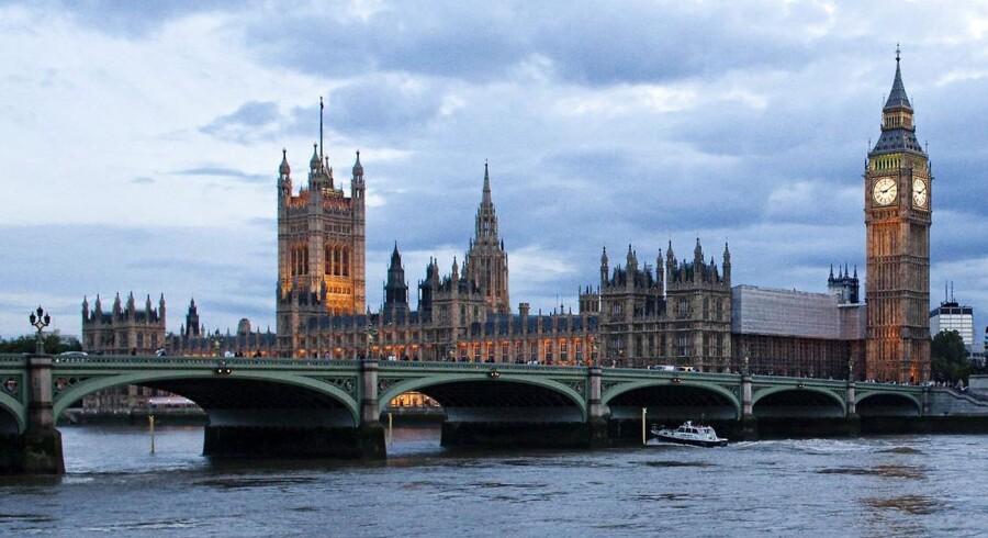 Palace of Westminster med klokketårnet Big Ben.