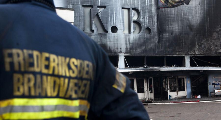 KB Hallen brændt ned.