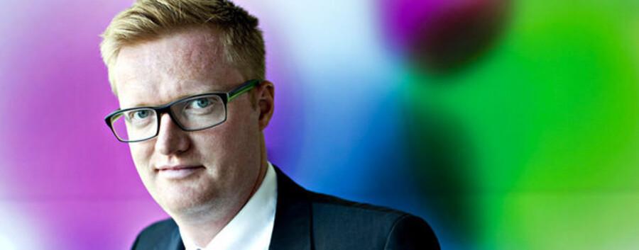 Marketingsdirektør Anders Lund er ansvarlig for at udarbejde strategierne for udvikling og salg af Novozymes enzymer til vaskemidler.