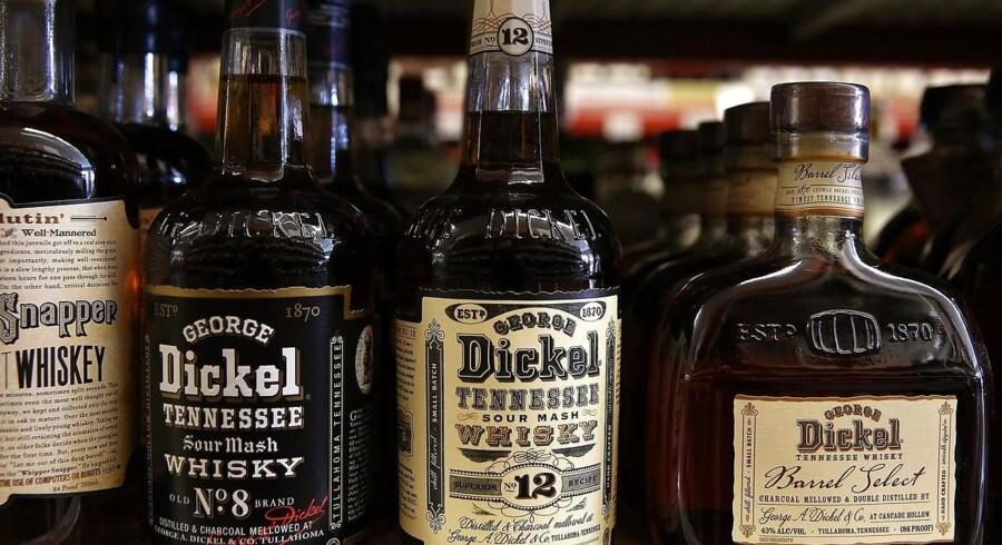 Arkivfoto. Den amerikansk-russiske sanktionskrig rammer nu bourbon-importen i Rusland.
