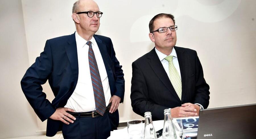 Danisco-direktørerne Søren Bjerre-Nielsen (tv) og Tom Knutzen er blandt de helt store vindere efter salget til Danisco.