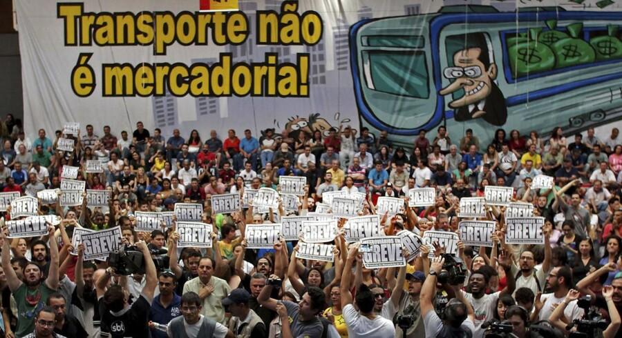 Sao Paulos metroarbejdere strejker stadig.