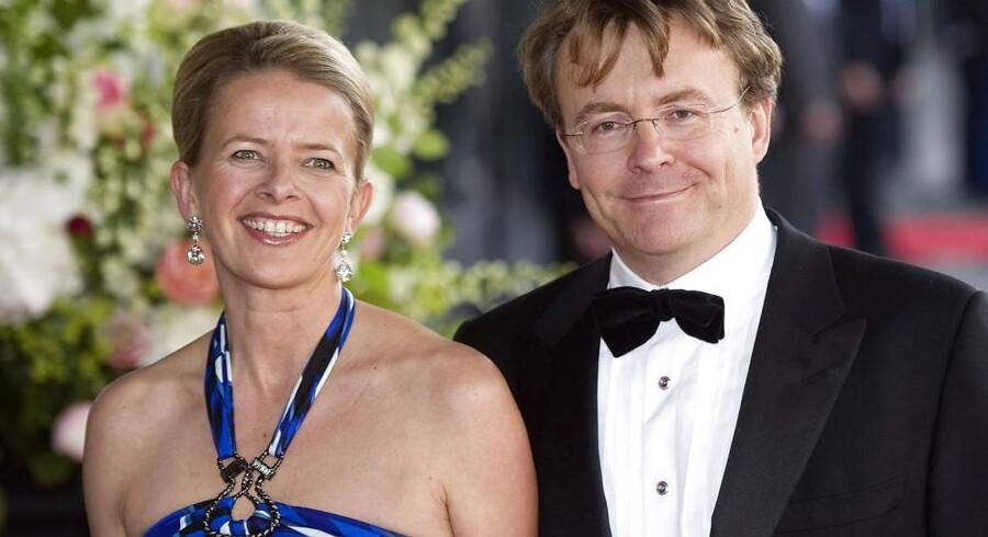 Før ulykken: Hollandske prinsesse Mabel og prins Friso. I dag ligger prinsen i dyb koma efter en lavineulykke sidste vinter.