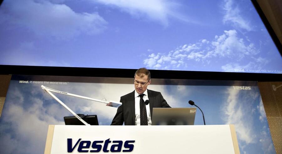 Vestas' topchef Ditlev Engel har måtte se selskabets markedsværdi falde med 70 procent på et år.