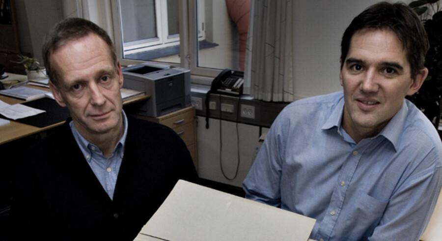Al tinglysning i Danmark bliver fra september i år elektronisk. Bag hele projektet står projektleder Henrik Hvid, Devoteam, og dommer Søren Sørup Hansen (tv.), der bliver chef for den samlede tinglysning, som flytter til Hobro.