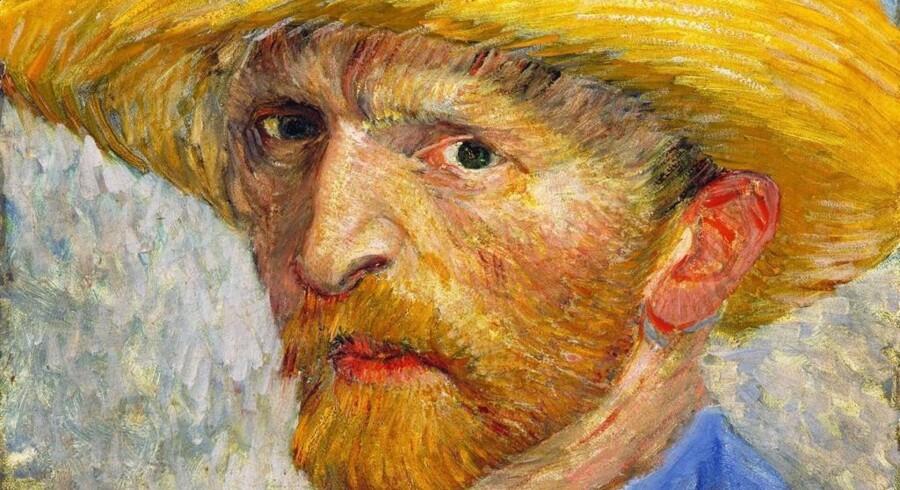 Van Gogh, »Selvportræt med en stråhat«.