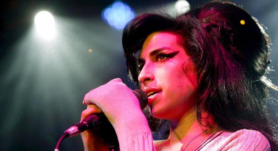 Amy Winehouse under en koncert i Schweiz.