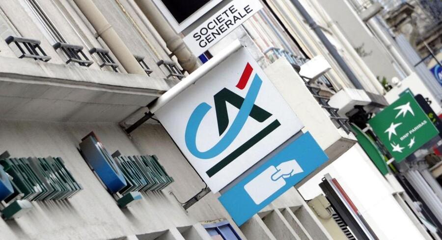 Den franske storbank Credit Agricole kom ud af fjerde kvartal et resultat, som lå en smule under analytikernes forventninger.