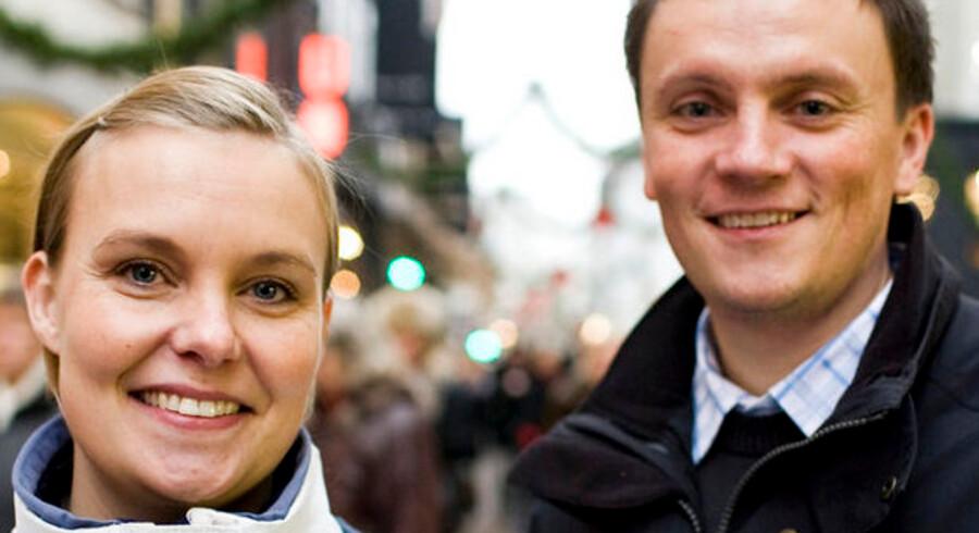 Tanja og René Carlsen regner med at bruge det samme på julegaver som sidste år: 6.000 kroner.