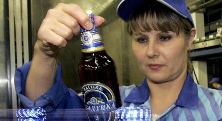 Fra Carlsbergs Baltika-bryggeri i Skt. Petersborg