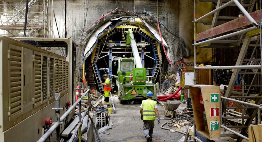 ARKIVFOTO. Metrobyggeriet kan blive forsinket 2,5 år, advarer formand for Metroselskabet.