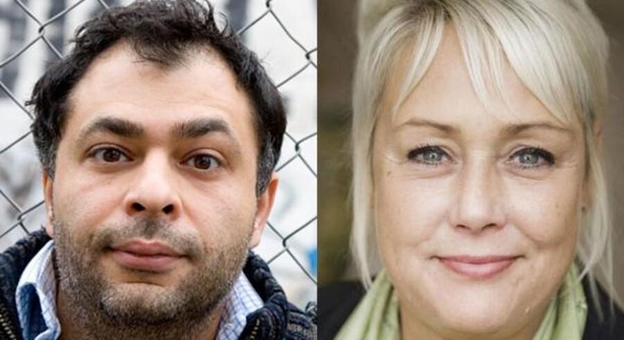 Komikeren Omar Marzouk kritiserer DFeren Tina Petersen for at gå under jorden efter trusler fra danske islamister.