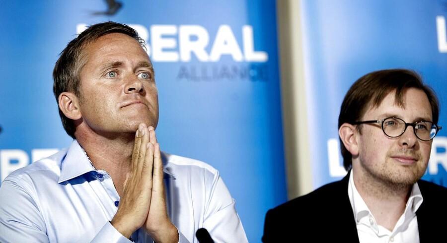 Simon Emil Ammitzbøll og Anders Samuelsen fra Liberal Alliances