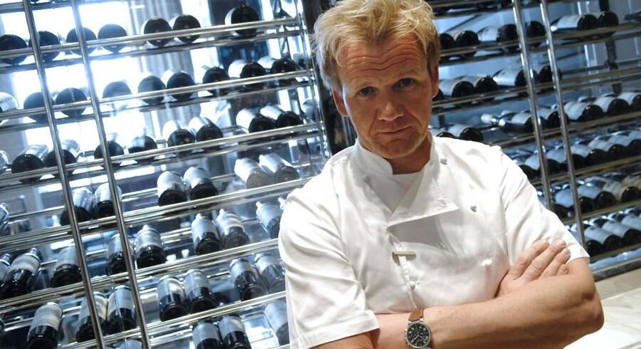Gordon Ramsay, her fotograferet i 2009, har søgt de britiske myndigheder om rettigeheder til varemærket Spotted Pig, som ellers er en kendt New Yorker restaurant.