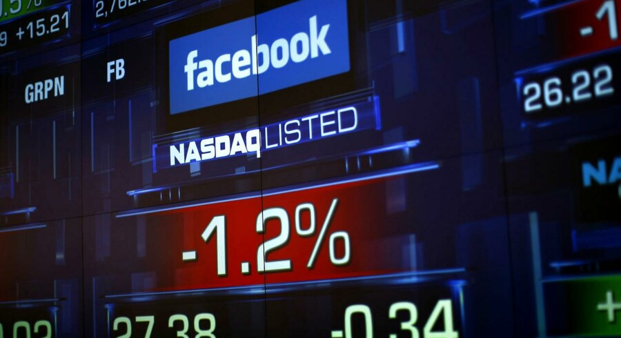 Nasdaq-børsen har fået en kæmpe bøde for den kaotiske børsnotering af Facebook sidste år. Arkivfoto: Eric Thayer, Reuters/Scanpix