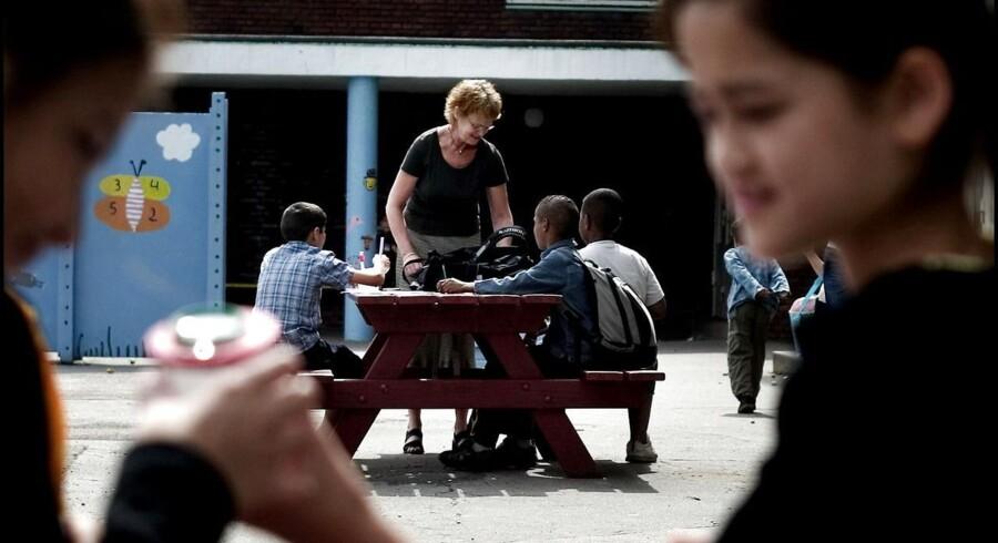 ARKIVFOTO 2005 fra Klostervængets Skole. En af de skoler, der har haft gavn af en navneændring, er Klostervængets Heldagsskole på Østerbro i København, som i 2013 skiftede navn til Nørre Fælled Skole.
