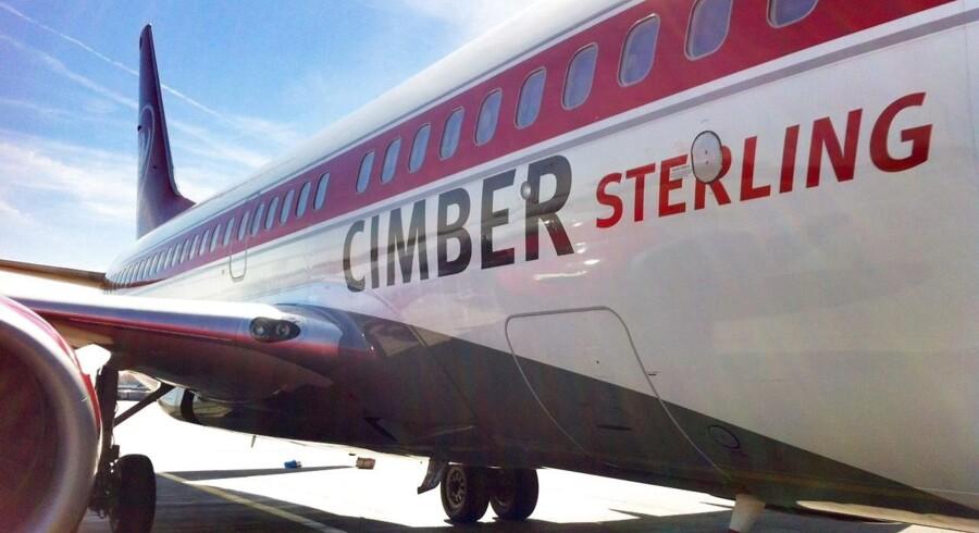 Et fly fra det konkursramte flyselskab Cimber Sterling