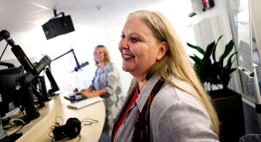 Koncernchef Lisbeth Knudsen ved premieren på BTs nyheder på radiokanalen Pop FM. Nu vil Berlingske Media og PeopleGroup i fællesskab drive en kommende radiokanal, som Kulturministeriet udbyder.