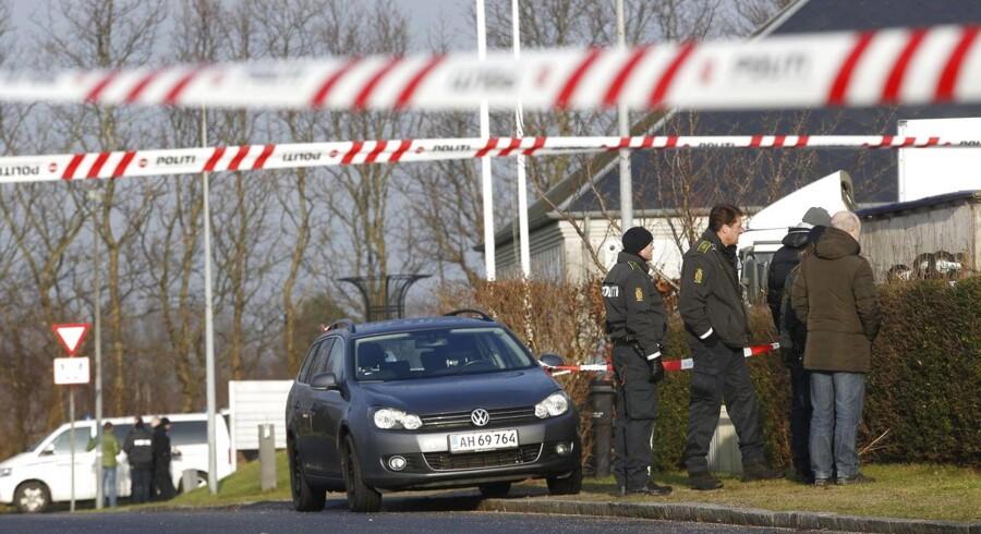 Politiet har afspærret området i Slangerup.