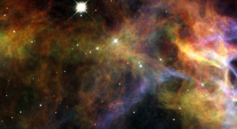 Her en illustration af supernovaen Veil Nebula, der eksploderede for 5.000-10.000 år siden