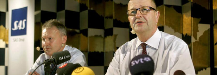 SAS' koncernchef Mats Jansson (th.) og vicekoncernchef John Dueholm.