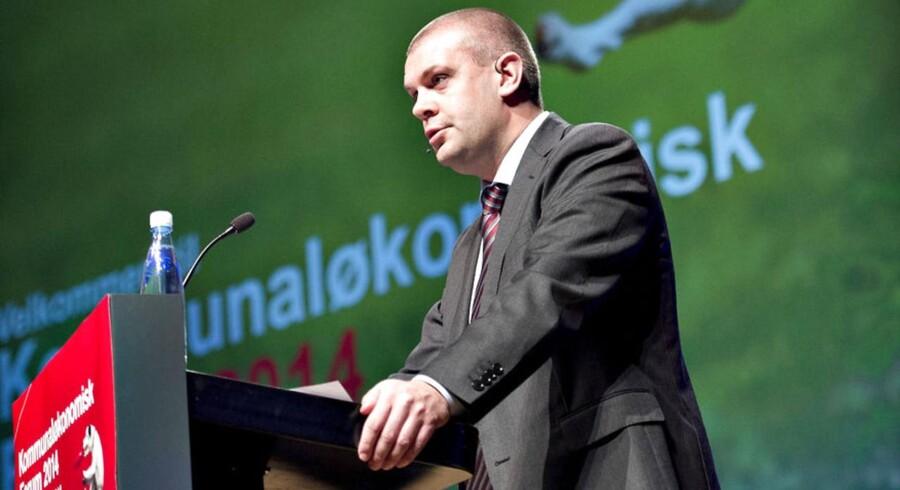 Torsdag indledte Kommunernes Landsforening (KL) Kommunaløkonomisk Forum 2014 i Aalborg Kongres og Kulturcenter. Her taler finansminister Bjarne Corydon (S) til KLs medlemmer.