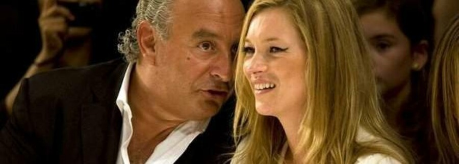 Sir Philip Green, her sammen med supermodellen Kate Moss.