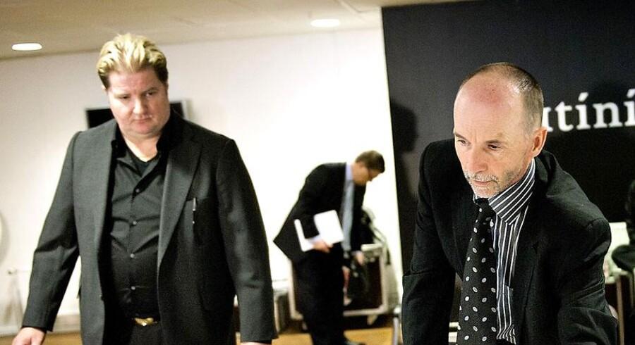 Erik Skjærbæk og Karl Peter Korsgaard Sørensen. Arkivfoto.