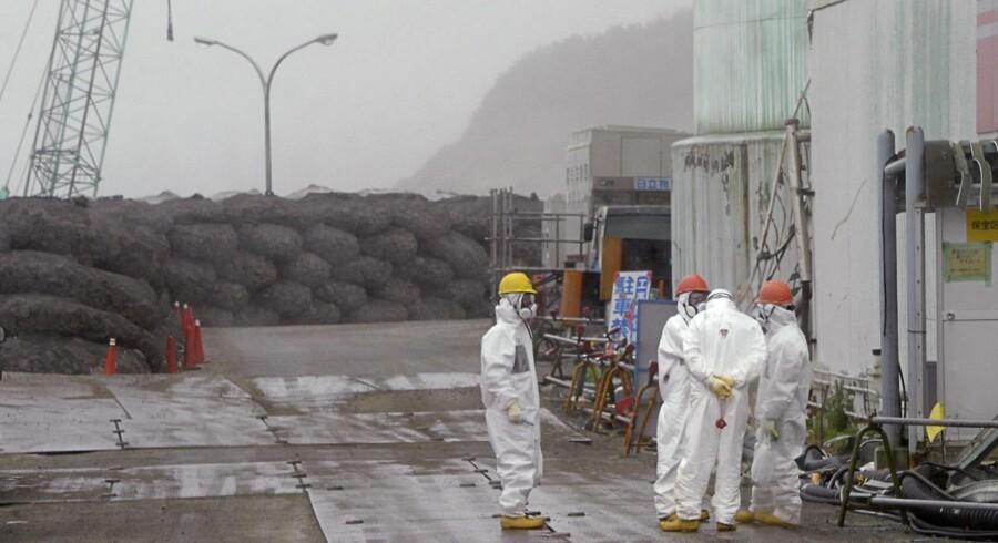 Atomkraftværket Fukushima Daiichi blev beskadiget af oversvømmelserne efter et undersøisk jordskælv, og Tepco erkender nu, at der kan være sluppet radioaktivt vand ud i havet.