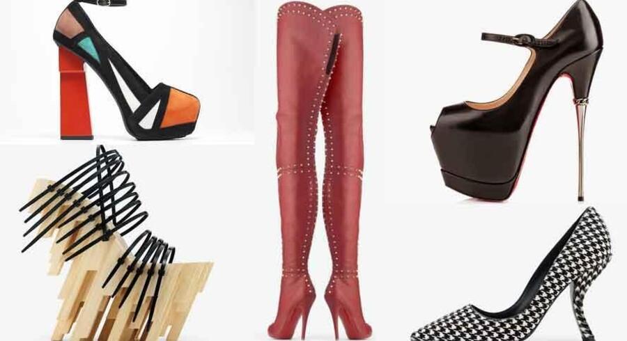 På Brooklyn Museum i New York kan man lige nu opleve nogle af historiens vildeste skodesign. Prada, Christian Louboutin og Vivienne Westwood er blandt designerne, der har fået nogle af deres kreationer udstillet, blandt mere eller mindre anvendelige sko af både ældre og nyere dato. Fælles for dem alle er de høje hæle og de skøre designs.Se et udvalg af skoene ved at klikke videre.