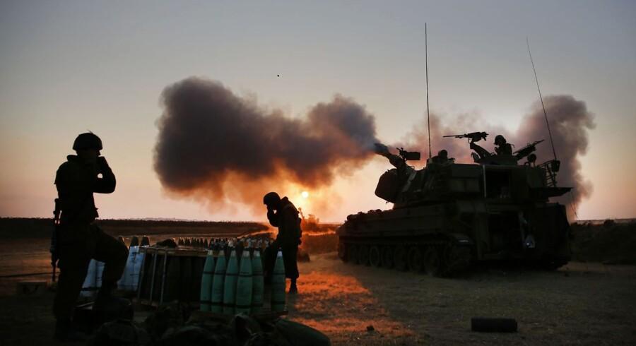 Israelske soldater nær Gazastriben.