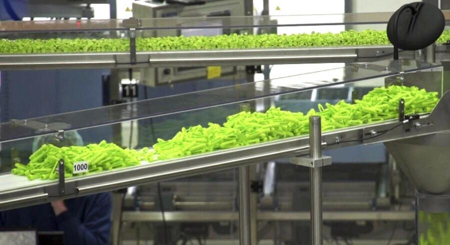 Det nye langtidsvirkende insulin, Tresiba, fra Novo Nordisk ser her i produktion fra 2012.