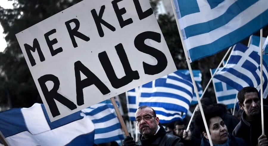 Tyskland og kansler Angela Merkel er ikke populære i Grækenland.